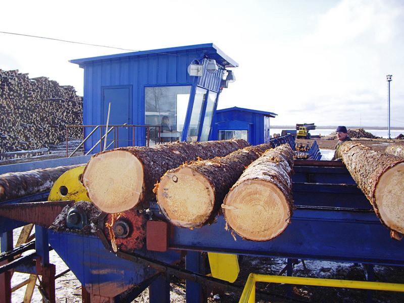 Лесопильный завод в с. Карпогоры, Пинежский р-он, Архангельская область.
